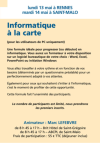 Informatique à la carte