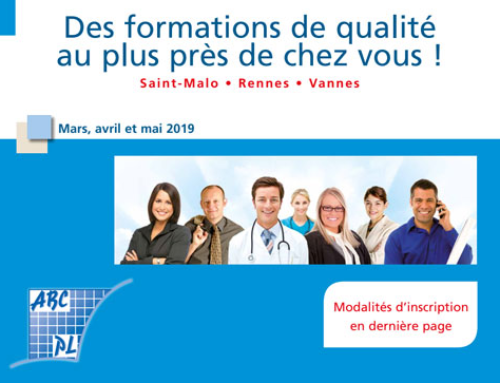 AGA Formation mars, avril, mai 2019